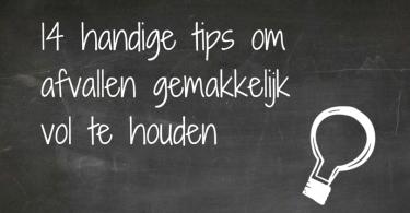 Afvallen volhouden - 14 handige tips
