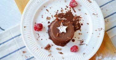 Chocolade panna cotta