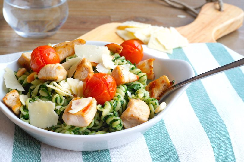 recept spinazie kip