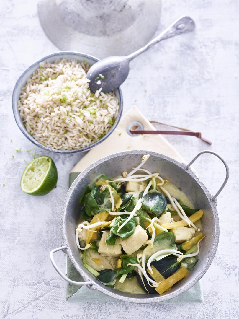 Groene curry met witvis
