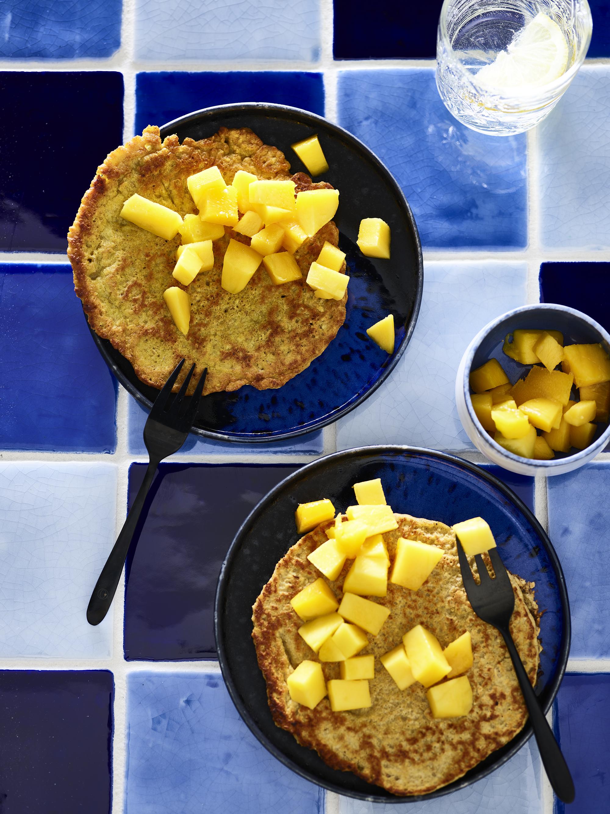 Havermoutpannenkoekjes met mango