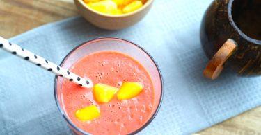 Smoothie met framboos en wortel