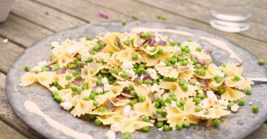 Vegetarische pasta met feta