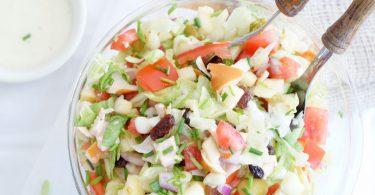 Salade met appel en kip