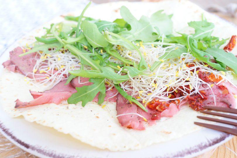 Wrap met rosbief (lunch)