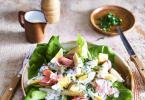 Lunchsalade met asperges en beenham