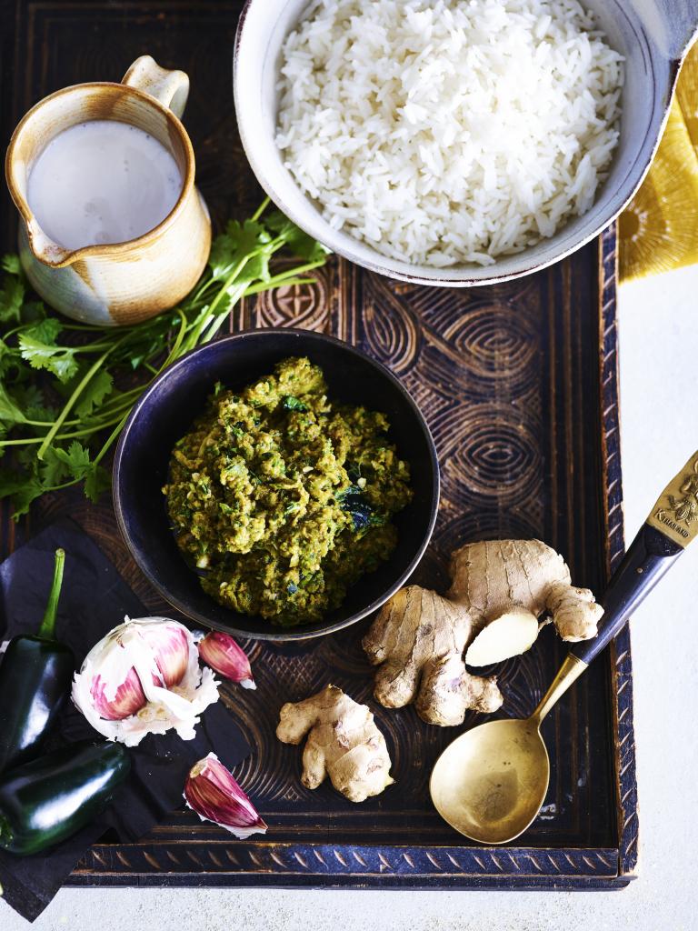 Groene currypasta