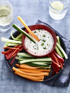 Snelle en smakelijke (groente)dipsaus